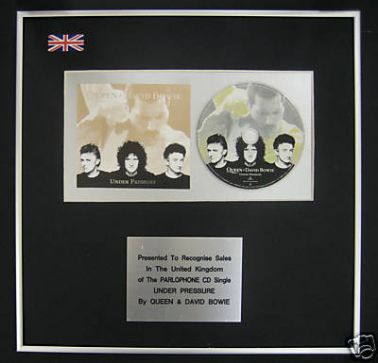 QUEEN & DAVE BOWIE  - CD single Award - UNDER PRESSURE